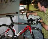 Taking digital measurements of the TT bike setup ? Brody Boeger