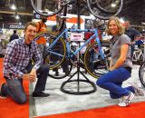 Riders Amanda and Alan at Interbike. © Dave Lieberman