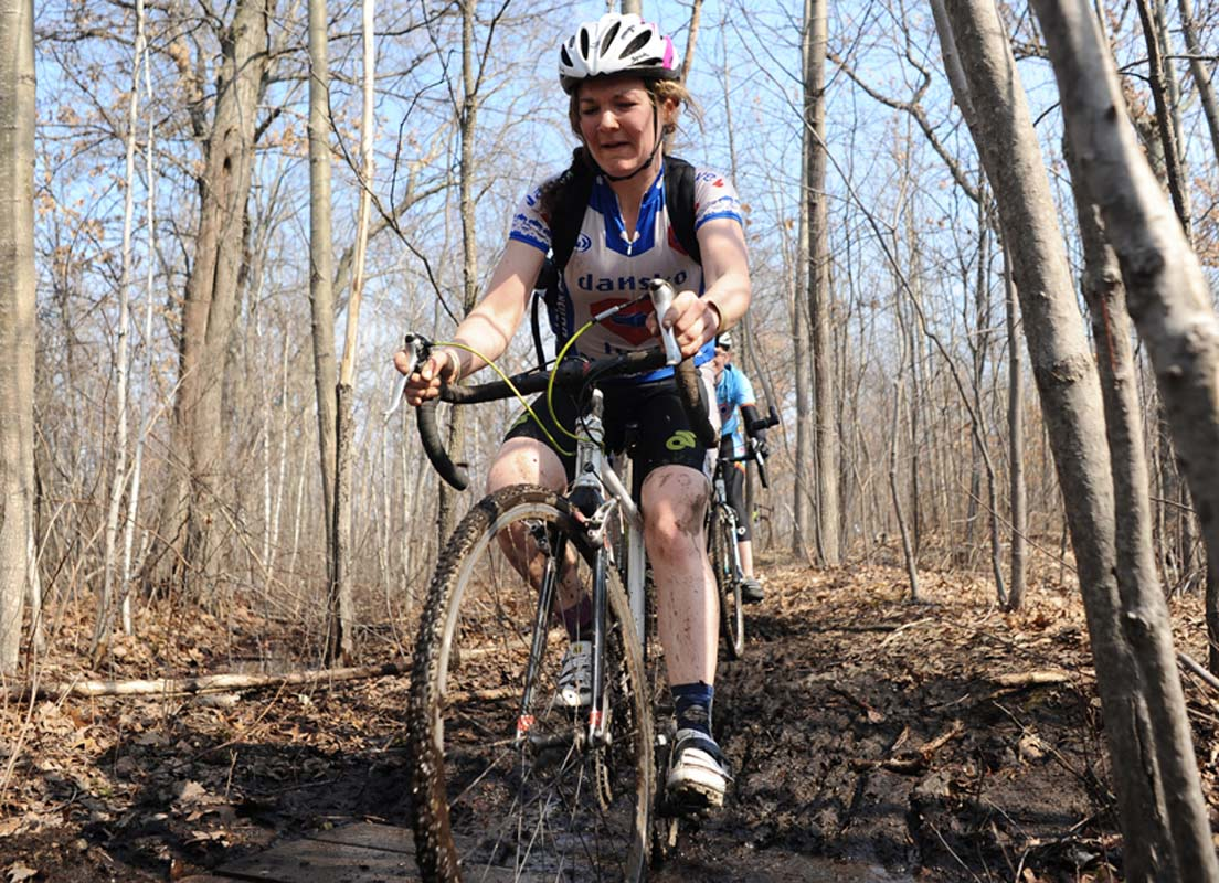 Jennifer O'Donnell cruises through Cutler Park.? Natalia McKittrick