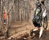 You have to wonder what the runner is thinking about the guy carrying the bike through the mud.? Natalia McKittrick