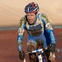 Erwin Vervecken leading the 2009 Roubaix World Cup. by Joe Sales