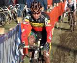Sven Nys riding to third in Roubaix. ? Bart Hazen