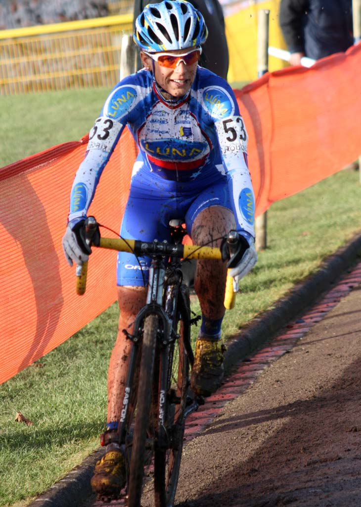 Katerina Nash took her first World Cup win in Roubaix. ? Bart Hazen