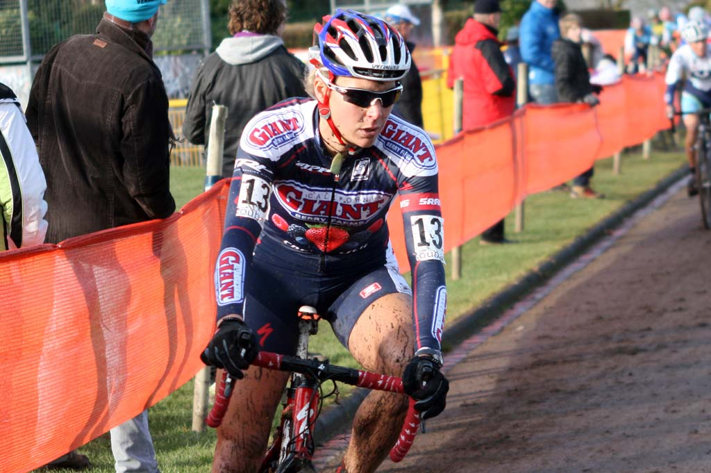Meredith Miller was the top American in Roubaix finishing 12th. ? Bart Hazen