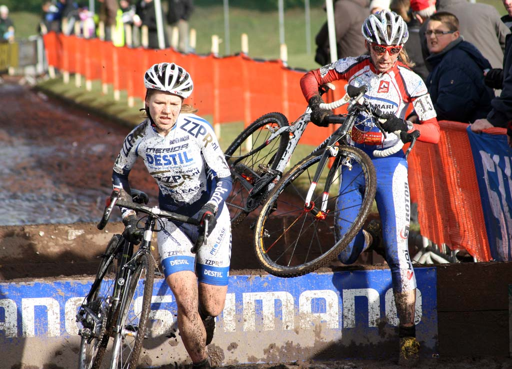 The muddy conditions complicated running the barriers. ? Bart Hazen