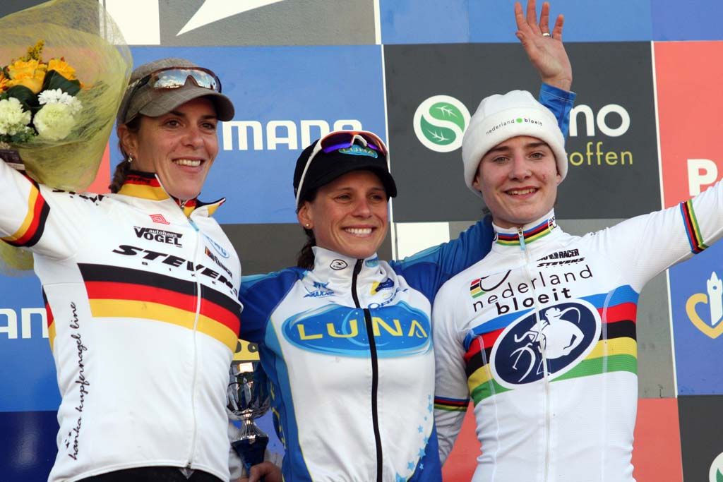The women's elite podium at the Roubaix World Cup. ? Bart Hazen
