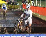 World Champion Vos charging through the barriers. ? Bart Hazen