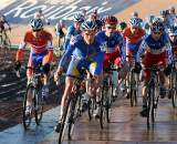 The juniors take to the course in Roubaix. ? Bart Hazen