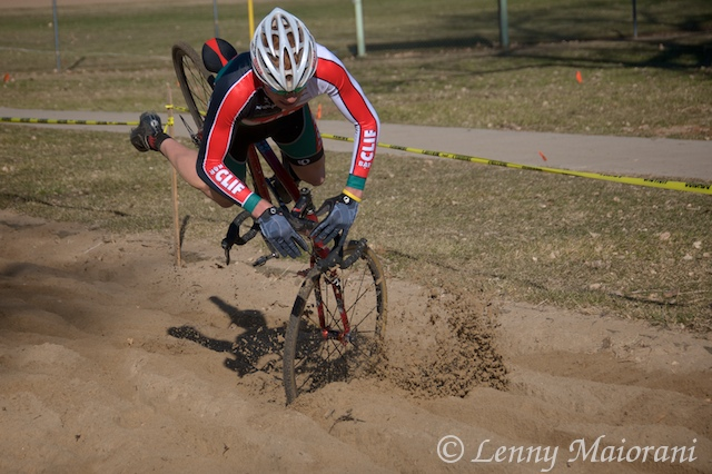 The sand pit claims another rider.  ? Lenny Maiorani