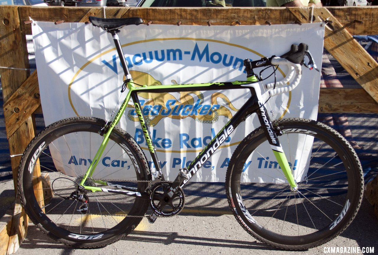 Big Drop ahead: Perhaps the biggest drop from saddle to bar in cyclocross, with SRAM Red, Zipp Firecrest 303 tubulars.  © Cyclocross Magazine