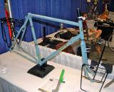 Longmont, CO, based Mark Nobilette brought out a touring version of his Reynolds 853 tubed touring/cyclocross frame. This frame won the ?Best Fillet Brazed Bike? at the North American Handmade Bicycle Show. ? Dave Lawson