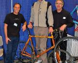 Obligatory paparazzi shot: Former NBA star, Bill Walton, was on hand to help show off his new road bike along with builder Bill Holland and custom painter Joe Bell ? Dave Lawson