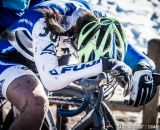 Catching her breath after Womens 17-18 and 15-16 on the 2014 National Cyclocross Championships. © Mike Albright