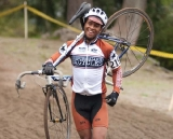 After a sandy mishap, this Counterbalance Bicycles racer is back in the race © Karen Johanson