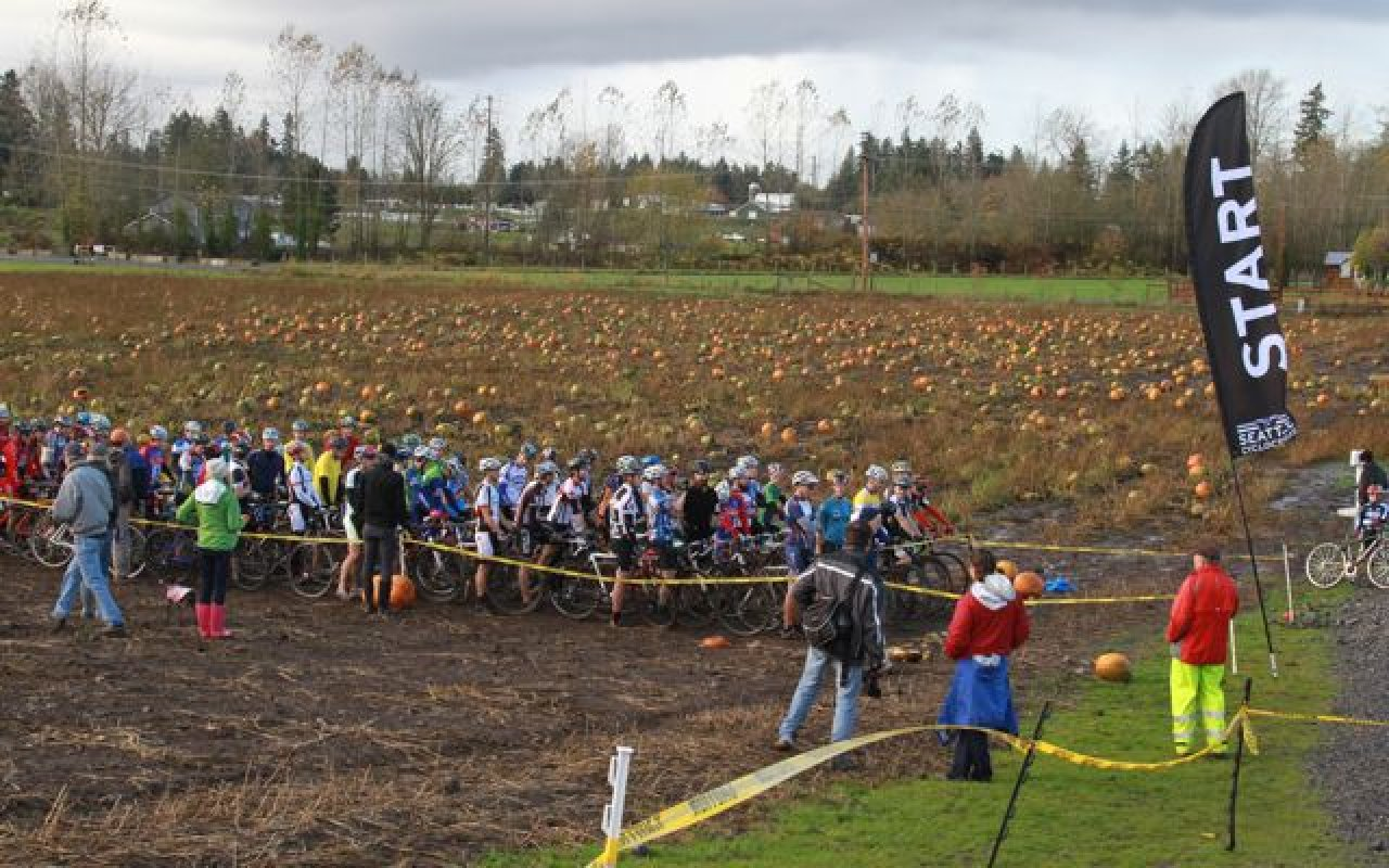 Maris Farms Start Line © Janet Hill