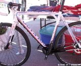 Colnago's 2013 World Cup aluminum cyclocross bike will be disc only. Sea Otter 2012. ©Clifford Lee