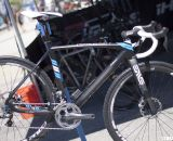 Raleigh expands its line up with a new Shimano Ultegra Di2 and CX75 disc brake equipped RXC Pro Disc for 2013. Sea Otter 2012. ©Cyclocross Magazine