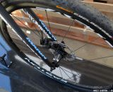 Easton wheels, Marin fork, and Avid disc brakes on the carbon 2014 Marin Cortina. Sea Otter 2013 © Cyclocross Magazine