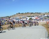 A lot of pavement made the race less technical at the Sea Otter short track race 2013. © Cyclocross Magazine