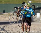 Women heading through the sand during cyclocross at Sea Otter. © Mike Albright