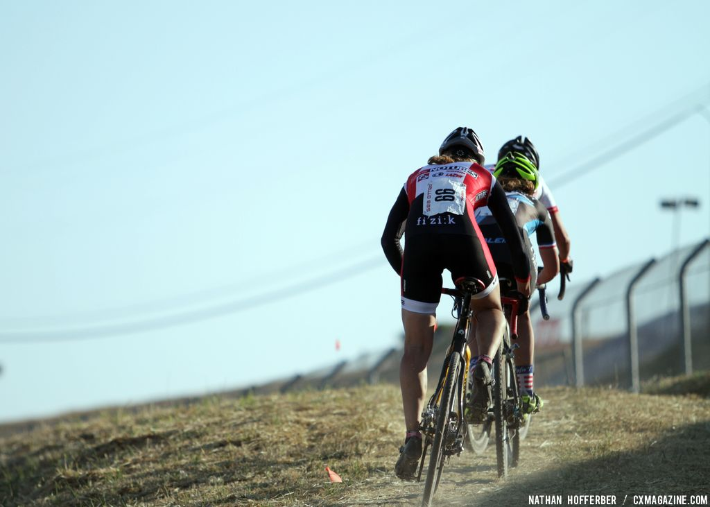 Heading up the long climb at the Raleigh cyclocross race at Sea Otter. © Cyclocross Magazine