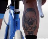 Berden's tattoo looked menacing at the Raleigh cyclocross race at Sea Otter. © Cyclocross Magazine