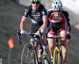 Mani leads Dyck at the Raleigh cyclocross race at Sea Otter. © Cyclocross Magazine
