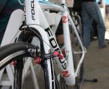 Focus Milram with low-profile Zipp clinchers and road tires ? Andrew Yee