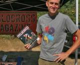 Issue 4 cover boy Ryan Trebon proudly displays his favorite mag.