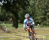 The voice of Seattle Cyclocross Nathan Kiger shows off his pain face. ? Kenton Berg