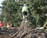 The first of two small sand sections was rideable but caused mayhem in some races. ? Kenton Berg
