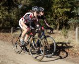 Emily Thurston (Stevens, left) and Ellen Sherrill (Bike Station Aptos) working to stay out in the lead.