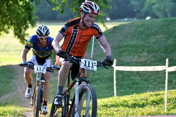 Racing short track at Eva Bandman Park. It\'s not cyclocross, but it\'s close! © Marcia Seiler
