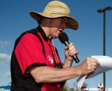 Tom Simpson giving call-ups at Sierra Point - Bay Area Super Prestige Cyclocross. © Tim Westmore