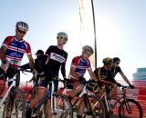 The singlespeeders ready to battle - Bay Area Super Prestige Cyclocross - Sierra Point 2012. © Tim Westmore