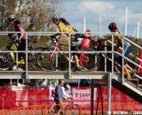 The women take to the flyover - Bay Area Super Prestige Cyclocross - Sierra Point 2012. © Tim Westmore