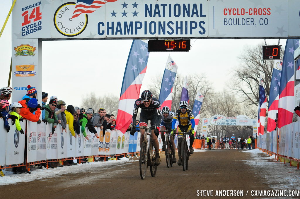 Brady Kappius crosses the line for silver. © Steve Anderson