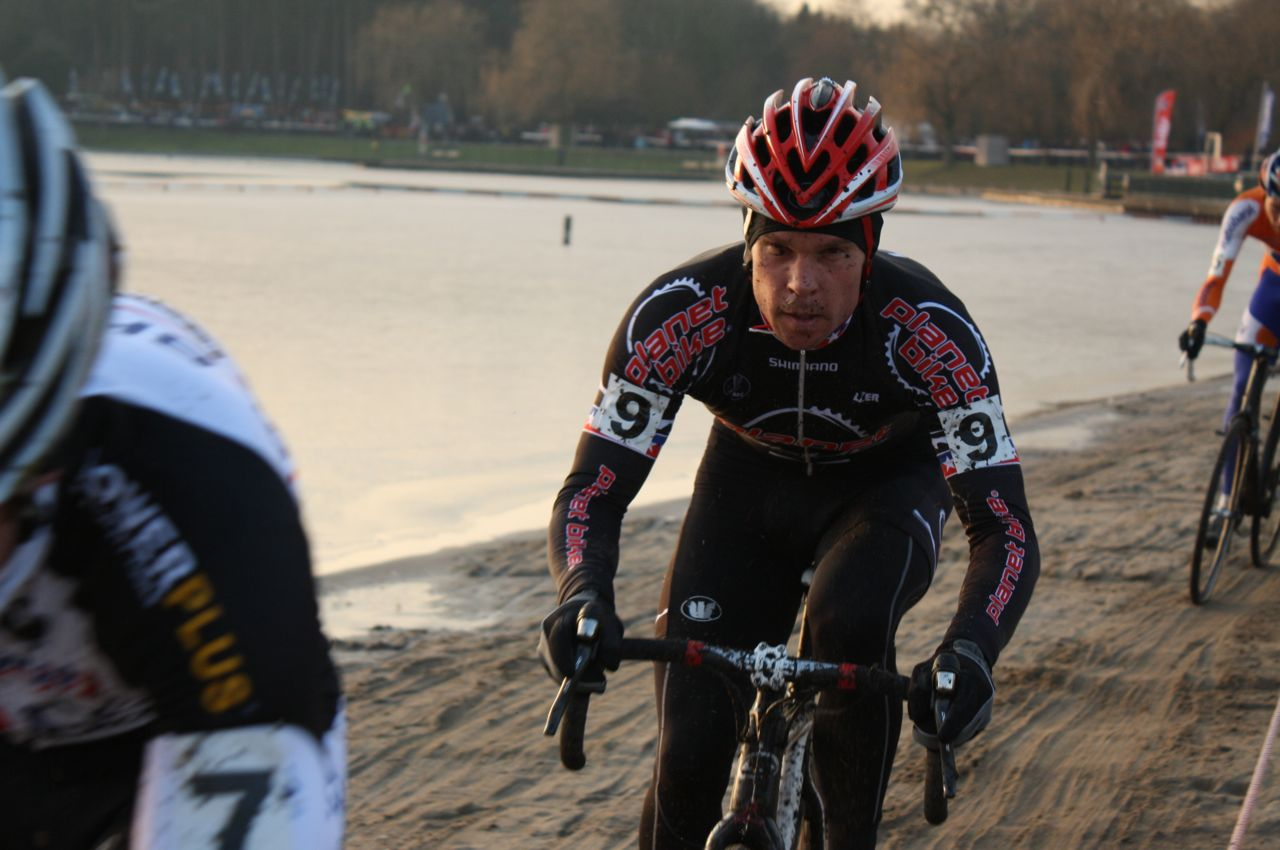Jonathan Page looked great, but had a disappointing last lap - Sint Niklaas, Belgium, January 2, 2010.  ? Dan Seaton