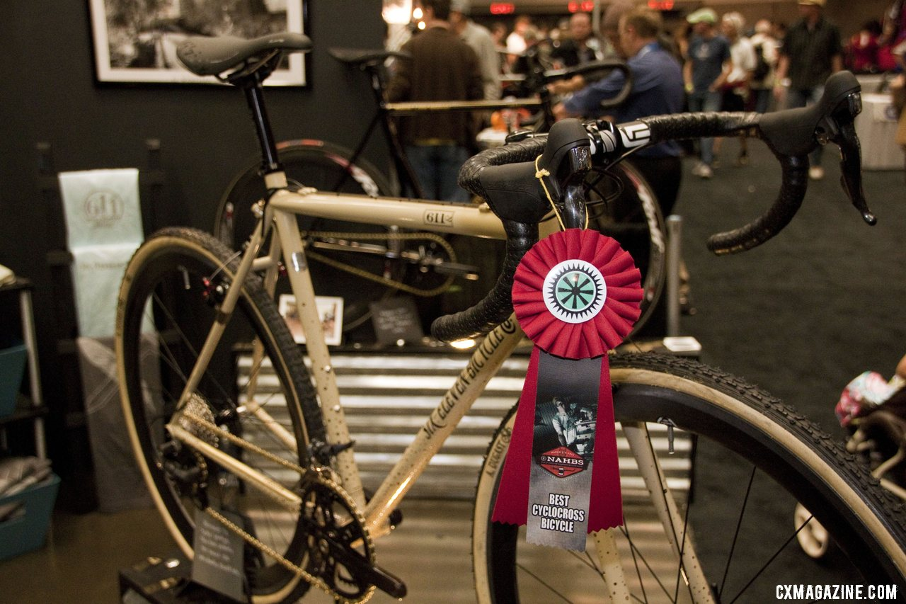 Six Eleven Bicycle Co.\'s bike tied with Moots for the Best Cyclocross Bike at NAHBS 2012. ©Cyclocross Magazine