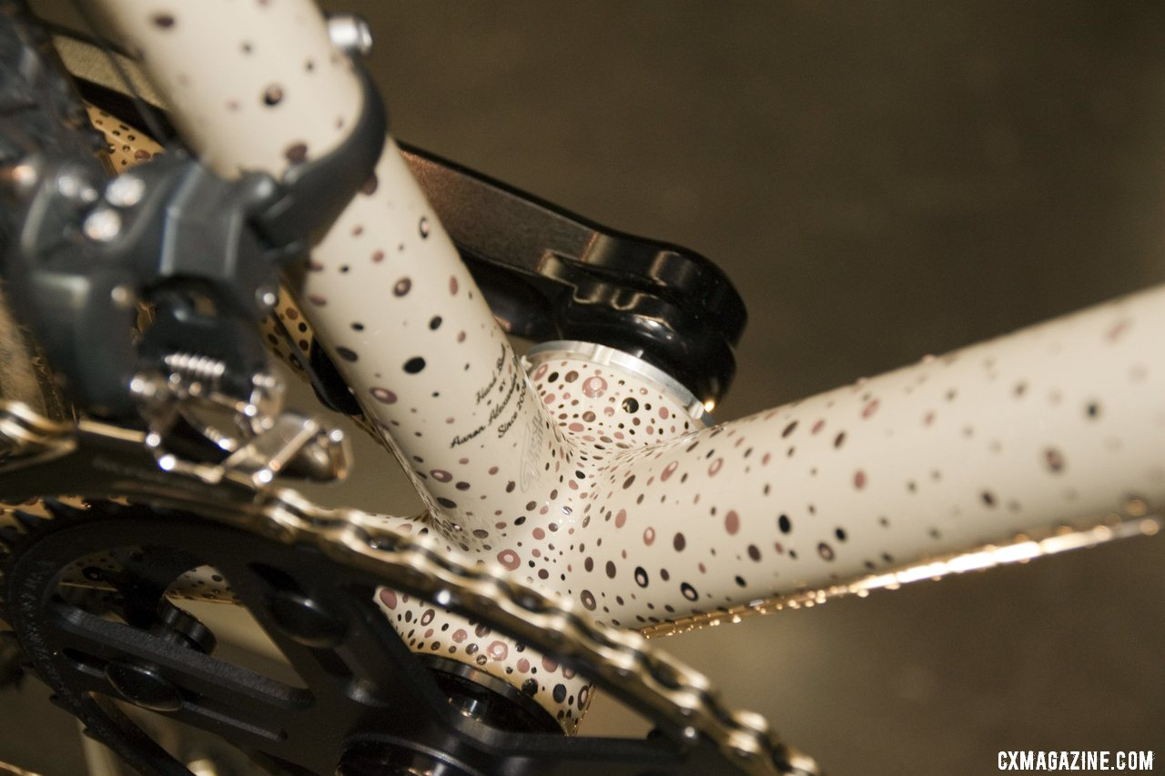 The paint dots are concentrated in areas that will likely see mud.. Six Eleven Bicycle Co.\'s Best Cyclocross Bike at NAHBS 2012. ©Cyclocross Magazine