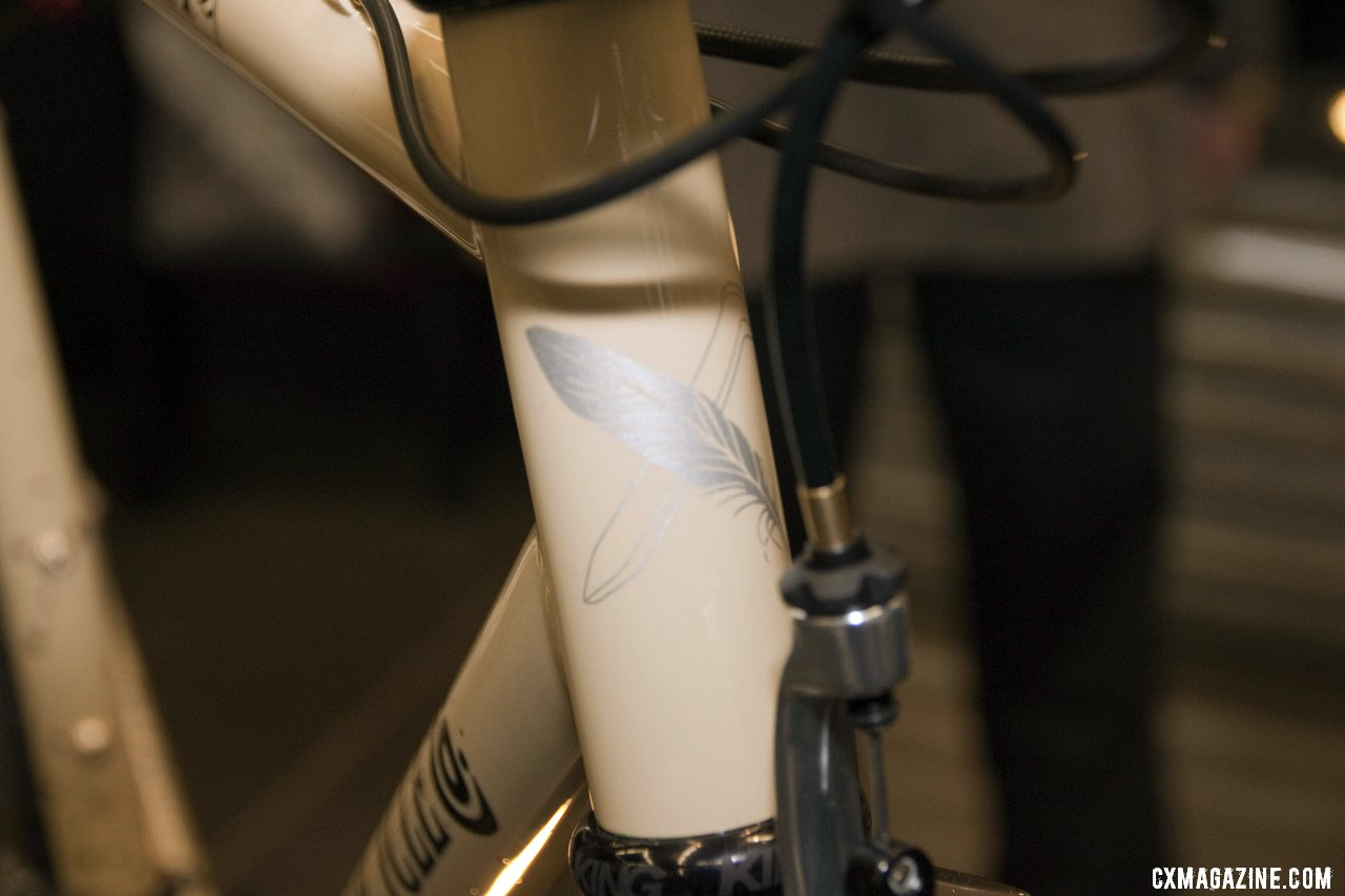 Head badge art on the Six Eleven Bicycle Co.\'s Cyclocross Bike at NAHBS 2012. ©Cyclocross Magazine