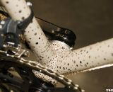 The paint dots are concentrated in areas that will likely see mud.. Six Eleven Bicycle Co.'s Best Cyclocross Bike at NAHBS 2012. ©Cyclocross Magazine