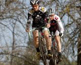 Snead leads Prenzlow in the Elite Men's race. Socal vs. Norcal Cyclocross Championships. © Tim Westmore