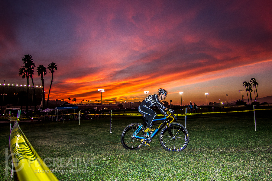 Out of the day and into the night for  Spooky Cross in Pomona. © Philip Beckman