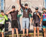 Not your typical podium picture. It was a long weekend for the Men's A winners. © Philip Beckman