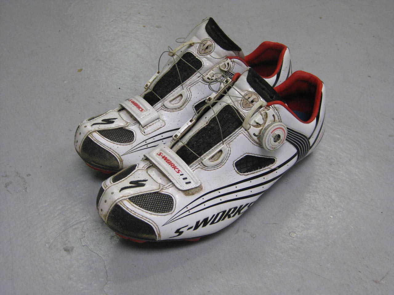 Specialized 2010 S-Works MTB Shoes, only slightly used at time of photo ? Lane Miller