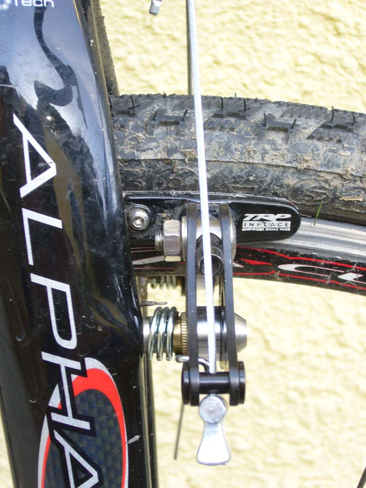 Plenty of spring tension. Shown here with TRP InPlace adjustable brake pad holders ? Clifford Lee