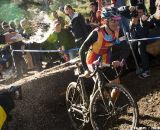Chris Jones, had a huge lead at the 2011 SSCXWC, couldn't avoid the beer spray. © Kevin White