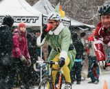 This elf is slacking off in the busy season. SSCXWC 2013. ©  Dominic Mercier
