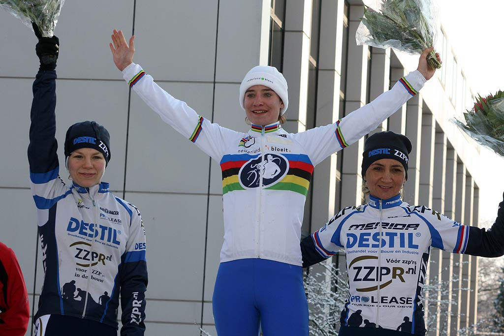 The women\'s podium. ? Bart Hazen